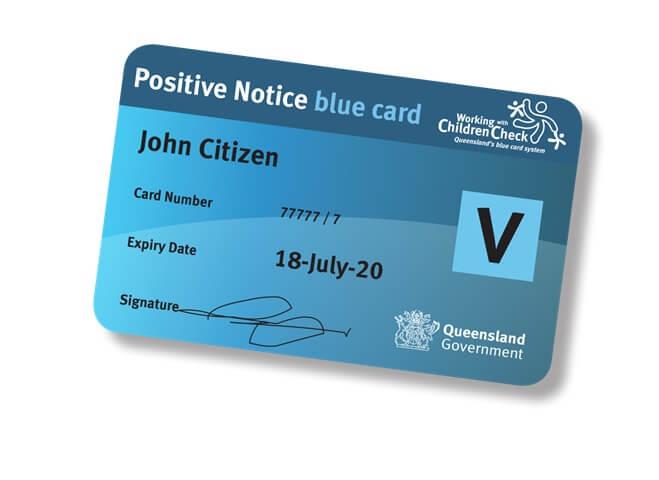 Helensvale Little Athletics blue card