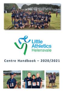 Helensvale Little Athletics 20 21 season handbook